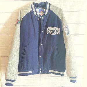 Vintage NFL Dallas Cowboys Varsity Jacket size Lg